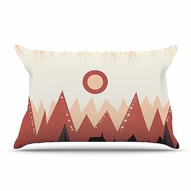 East Urban Home Viviana Gonzalez 'Landscape A.' Coral Pillow Case