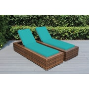 Ohana Depot Ohana Chaise Lounge w/ Cushion (Set of 2); Sunbrella Aruba