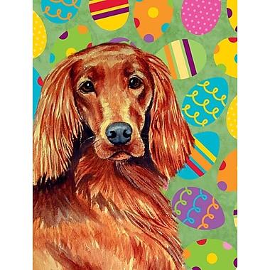 Caroline's Treasures Easter Eggtravaganza House Vertical Flag; Irish Setter Dog