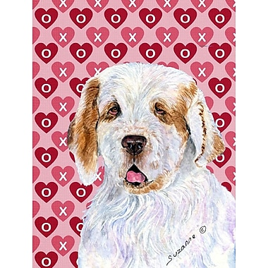 Caroline's Treasures Dalmatian Hearts Love and Valentine's Day House Vertical Flag; Clumber Spaniel
