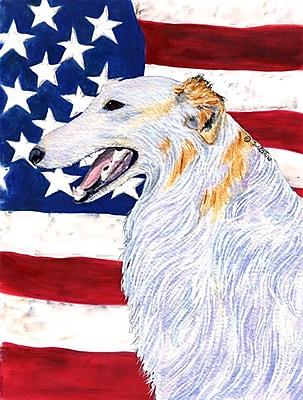 Caroline's Treasures USA American House Vertical Flag; Borzoi