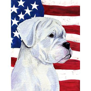 Caroline's Treasures American Flag 2-Sided Garden Flag; Boxer (White)
