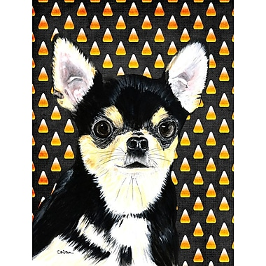 East Urban Home Candy Corn Halloween 2-Sided Garden Flag; Chihuahua 2