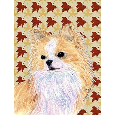 Caroline's Treasures Fall Leaves 2-Sided Garden Flag; Chihuahua 4