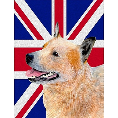 East Urban Home English Union Jack British Flag 2-Sided Garden Flag; Australian Cattle Dog (Beige)