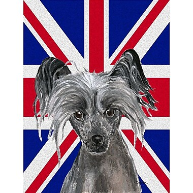 East Urban Home English Union Jack British Flag 2-Sided Garden Flag; Chinese Crested (Black)