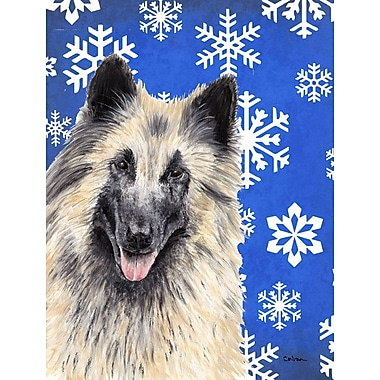 East Urban Home Winter Snowflakes Holiday 2-Sided Garden Flag; Belgian Tervuren