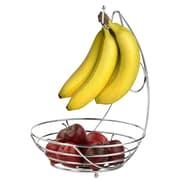 Symple Stuff Chrome Fruit Bowl w/ Banana Tree