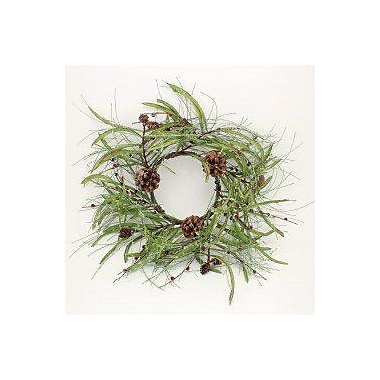 The Holiday Aisle Icy 13'' Pine Cone Ring Wreath