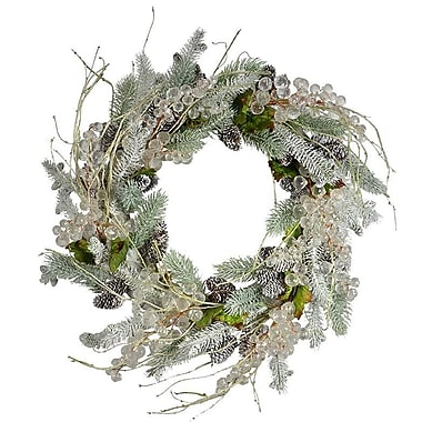 The Holiday Aisle 20'' Crystal and Pine Wreath