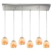 Latitude Run Cantrell 6-Light Glass Frosted Kitchen Island Pendant