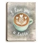 Latitude Run 'Latte Love' Rectangle Graphic Art Print on Wood