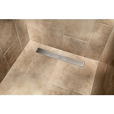 IPT Sink Company Stainless Steel Square Grate Linear 30'' Grid Shower Drain