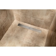 IPT Sink Company Stainless Steel Square Grate Linear 60'' Grid Shower Drain