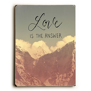 Loon Peak 'Love Is the Answer Mountains' Graphic Art Print on Wood