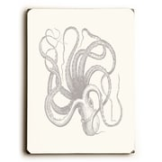 Longshore Tides 'Natural Octopus' Rectangle Graphic Art Print on Wood