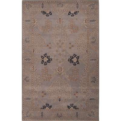 Charlton Home Trinningham Gray Arts and Craft Area Rug; 5' x 8'