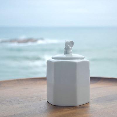Maia Ming Designs Guardians Elephant Cookie Jar; 5.25'' H x 5.25'' W x 5'' D