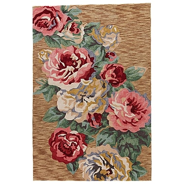 Red Barrel Studio Hand-Tufted Red/Brown Sugar Area Rug; 5' x 7'6''