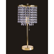 Sintechno Inc Crystal Inspired 19'' Table Lamp; Gold