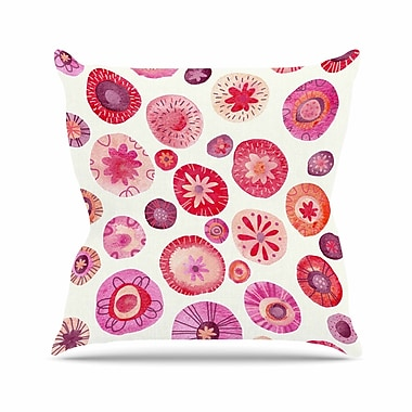 East Urban Home Nic Squirrell All the Flowers Outdoor Throw Pillow; 16'' H x 16'' W x 5'' D