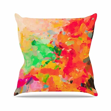 East Urban Home Oriana Cordero La Rochelle-Abstract Outdoor Throw Pillow; 16'' H x 16'' W x 5'' D