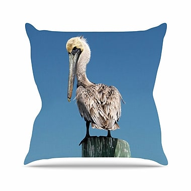 East Urban Home Philip Brown Pelican Photography Outdoor Throw Pillow; 16'' H x 16'' W x 5'' D