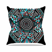 East Urban Home Pom Graphic Design Geo Glass Outdoor Throw Pillow; 16'' H x 16'' W x 5'' D