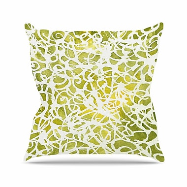 East Urban Home Rosie Brown Spiral Abstract Outdoor Throw Pillow; 18'' H x 18'' W x 5'' D
