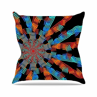 East Urban Home Laura Nicholson Ribbon Ring Abstract Outdoor Throw Pillow; 16'' H x 16'' W x 5'' D