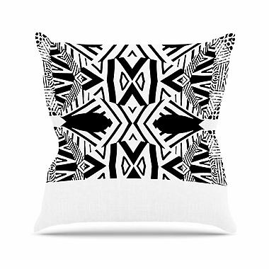 East Urban Home Pom Graphic Design Ocean Retro Vibes Outdoor Throw Pillow; 18'' H x 18'' W x 5'' D