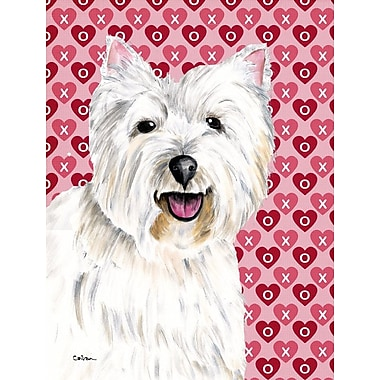 Caroline's Treasures Hearts Love and Valentine's Day 2-Sided Garden Flag; Westie 2