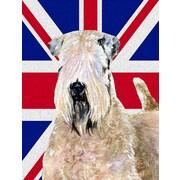 East Urban Home English Union Jack British Flag 2-Sided Garden Flag; Soft-Coated Wheaten Terrier