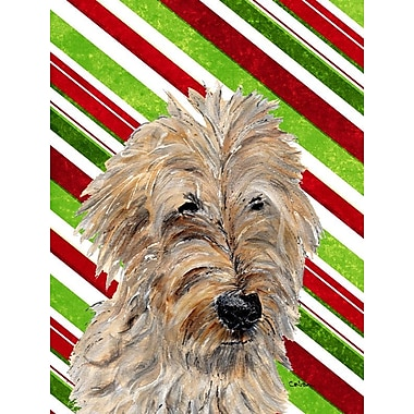 Caroline's Treasures Candy Cane Christmas 2-Sided Garden Flag; Golden Doodle 2
