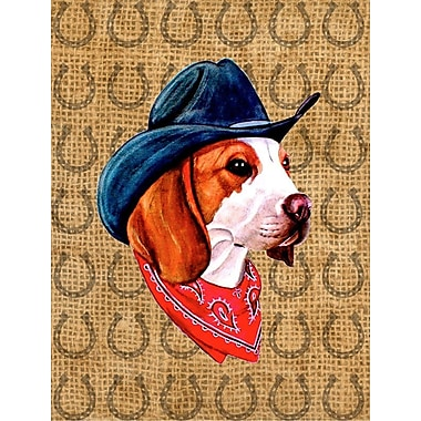 Caroline's Treasures Dog Country Lucky Horseshoe 2-Sided Garden Flag; Beagle
