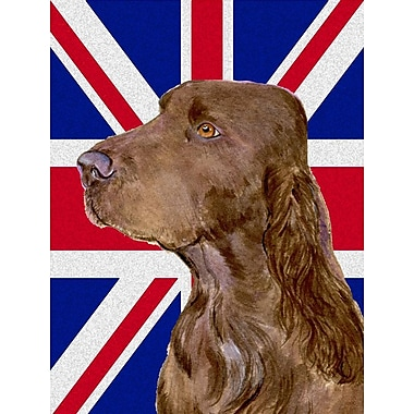 East Urban Home English Union Jack British Flag 2-Sided Garden Flag; Field Spaniel