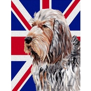 East Urban Home English Union Jack British Flag 2-Sided Garden Flag; Otterhound (Gray and Beige)