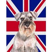 East Urban Home English Union Jack British Flag 2-Sided Garden Flag; Schnauzer 2