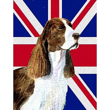East Urban Home English Union Jack British Flag 2-Sided Garden Flag; Springer Spaniel 2