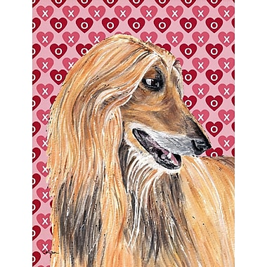Caroline's Treasures Cooper Love and Hearts Boxer 2-Sided Garden Flag; Afghan Hound 2