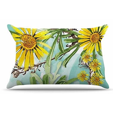 East Urban Home Liz Perez 'Sunny Day' Floral Pillow Case