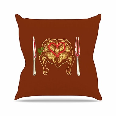 East Urban Home BarmalisiRTB Weekly Menu Digital Outdoor Throw Pillow; 18'' H x 18'' W x 5'' D