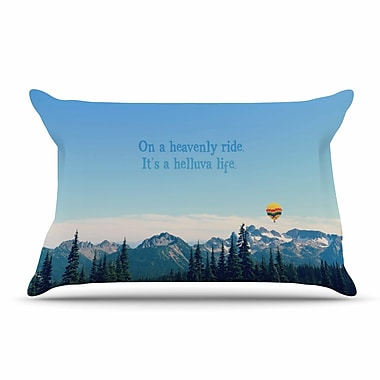 East Urban Home Robin Dickinson 'It'S A Helluva Life' Mountain Pillow Case