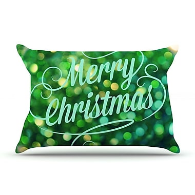 East Urban Home Robin Dickinson 'Merry Christmas' Pillow Case