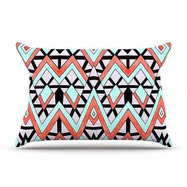 East Urban Home Pom Graphic Design 'Geometric Mountains' Pillow Case