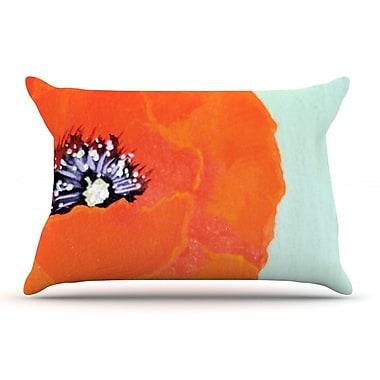East Urban Home Christen Treat 'Vintage Poppy' Flower Pillow Case