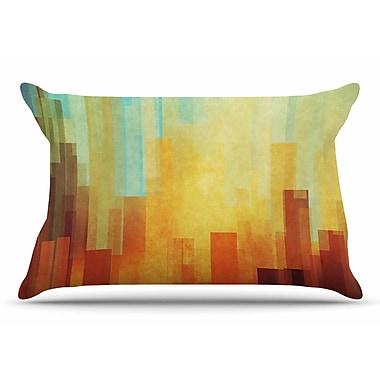 East Urban Home Cvetelina Todorova 'Urban Sunset' Geometric Pillow Case