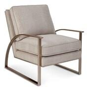 Gracie Oaks Alvina Brass Metal Arm Chair