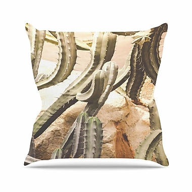 East Urban Home Ann Barnes Cactus Jungle Outdoor Throw Pillow; 18'' H x 18'' W x 5'' D