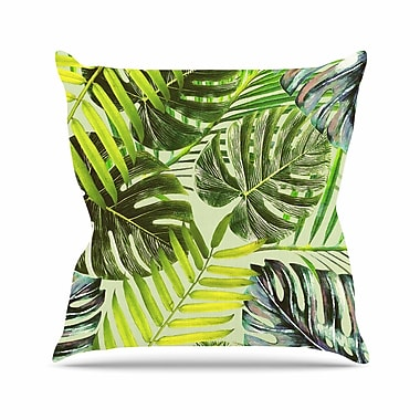 East Urban Home Alison Coxon Jungle Outdoor Throw Pillow; 18'' H x 18'' W x 5'' D